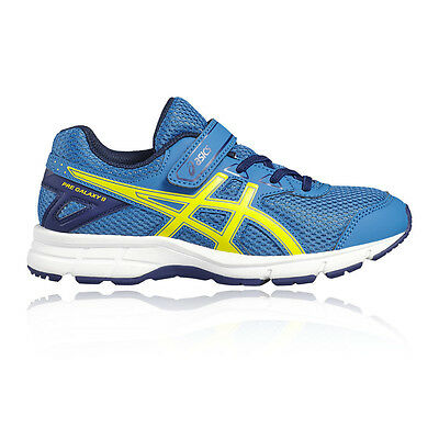 Asics Gel Galaxy 9 PS Junior Boys Blue Cushioned Running Shoes Trainers Pumps