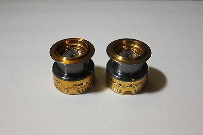 2 Shimano Stradic 2500FI Spare Spool Assembly used