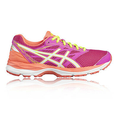 Asics Gel Cumulus 18 GS Junior Girls Pink Cushioned Running Shoes Trainers
