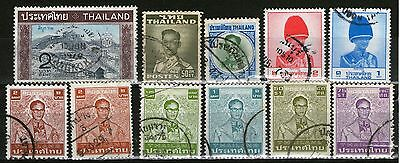 Thailand- 11 Old Stamps  - Used