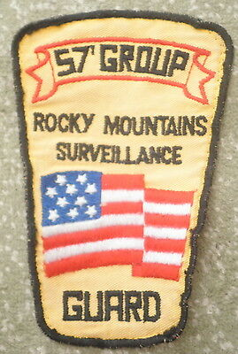 57 Group Rocky Mountains Surveillance Patch,USA SECURITY GUARD,SQUIRE PROTECTION