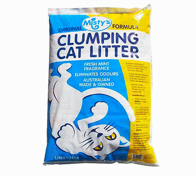 MISTY'S Premium Clumping Cat Kitty Litter 10 LITRE Fresh Mint Fragrance