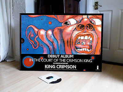 King Crimson In The Court Of The Crimson King Promo Poster,prog Rock,islands,red