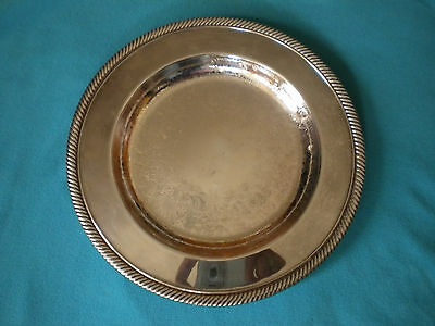 """Wm Rogers 811 Round 10.25"""" Silver Plate Serving Tray Platter"""