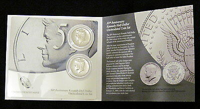 2014 P&d Clad High Relief Half Dollars In 50Th Anniversary Kennedy Coin Set
