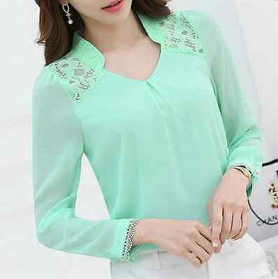 Long Sleeve T Shirt Vintage Ladies Elegant Blouse Victorian Womens Lace Tops
