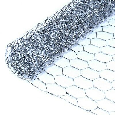 ALEKO 1in Hexagonal Mesh 8ft  Wire Roll Cloth 20 Gauge Steel 42in WM42X8M1G20