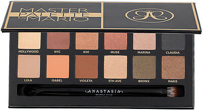 Master Eye Shadow Make Up Cosmetics Palette by Mario With Brush Uk Stock