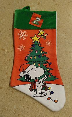 NWT Peanuts Snoopy Christmas Stocking