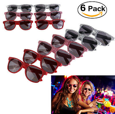 6pcs Colour Eyeglasses  Sunglasses Glasses UV Protection Hen Party Fancy Dress