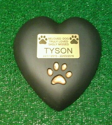 Dog Large Pet Memorial/headstone/stone/grave marker/memorial heart with plaque