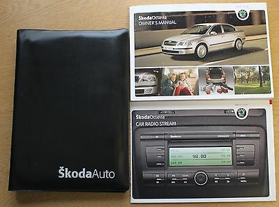 Skoda Octavia Ii Handbook Owners Manual Wallet 2004-2009 Pack 11336