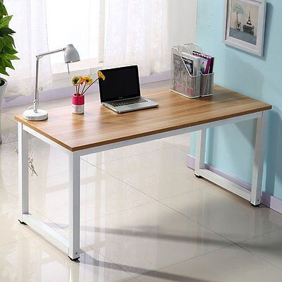 Computer Desk Home Desk Office Table Writing Study Table Workstation Metal Leg