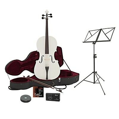 4/4 Size Cello with Case + Beginner Pack White