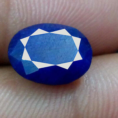 Blue Sapphire Amazing Madagascar Royal 4.25 Ct Oval Ring Cut 100% Natural Gems