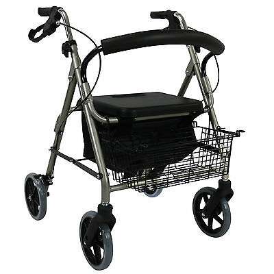 New Foldable Rollator Walker Aids Indoor Outdoor Mobility Walking Frame