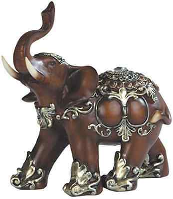 George S. Chen Imports SS-G-88098 Thai Elephant Wood Like Design Figurine, 6""