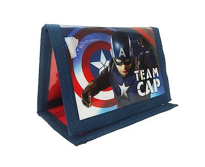 Captain America Civil War Tri-Fold Wallet | Purse with Coin Zip Compartment