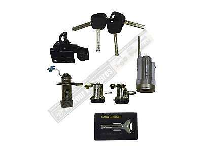Complete Lock and Key Set Toyota Landcruiser 80 Series with Barn Doors