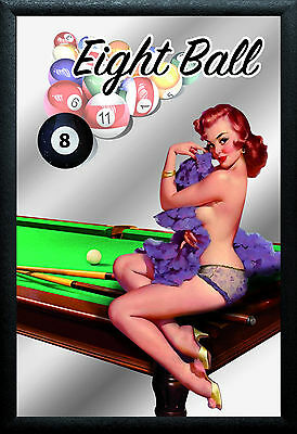 Las Vegas Pin Up Motif 3 Nostalgia Bar Mirror Mirror Bar Mirror 8 11/16x12 5/8in