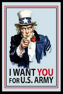 I want you for US Army Nostalgia Bar Mirror Mirror Bar Mirror 8 11/16x12 5/8in