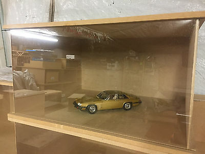 1:18 1-18 1/18 118 Scale Mdf Large Encapsulated Glass Front Blank Diorama