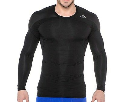 Authentic ADIDAS MENS TECHFIT LONG SLEEVE PERFORMANCE BASELAYER TEE
