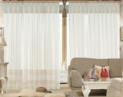 New 1 Sheer Voile Curtain 560 cm wide 230cm long