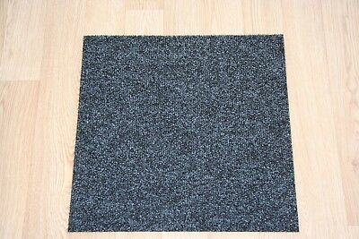 Black Premium Carpet Tiles - 4m2 Commercial Domestic Office Heavy Use Flooring