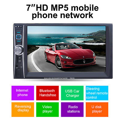"""Double 2 Din 6.6"""" HD Car Stereo MP5 MP3 Player Radio Bluetooth USB AUX +Camera"""