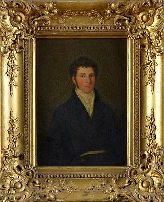 Early 19th Century English School Regency Antique Oil Portrait Painting