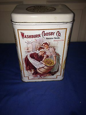 Vintage Washburn Crosby Co. Gold Medal Metal Flour Tin Collectible excellent