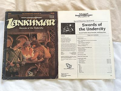 Lankhmar swords of the undercity 9150 TSR Advanced dungeons & dragons AD&D 1985