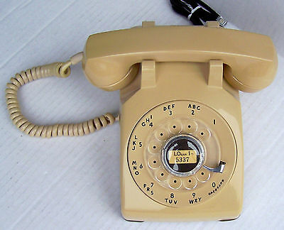 Western Electric 500 Beige Rotary Dial Desk Phone Reconditioned Vintage