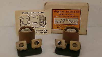 Cutler Hammer *set Of 2* Thermal Overload Heater Coils H1354 *new Surplus*