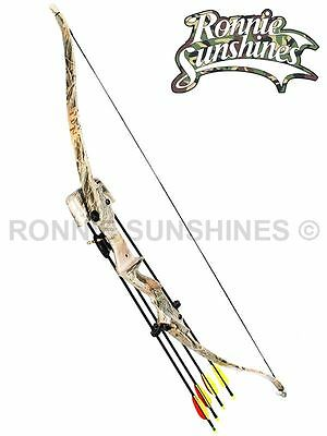 Camo Archery Bow Recurve & Arrows Quiver