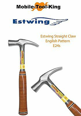 Estwing E24S 24oz Straight Claw Hammer / Leather Grip