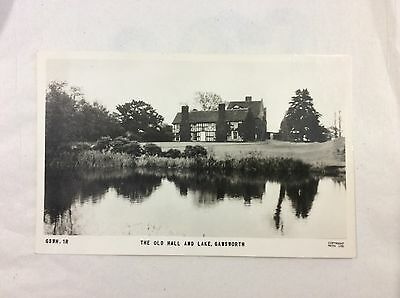 The Old Hall & Lake, Galsworth - unposted - B&W real photo postcard