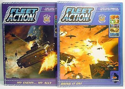 Babylon 5 Five Fleet Action Lot of 2 Bring it on My Enemy Agents Gaming RPG SC