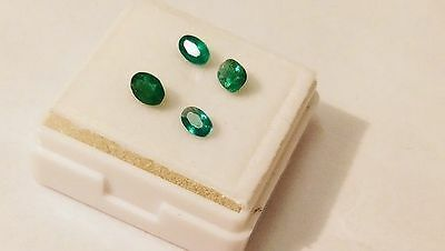4 x Emerald - Green - 0.65 ct Total