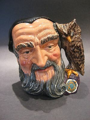 1959 Royal Doulton Fine English Porcelain Merlin Toby Character Jug #D6529
