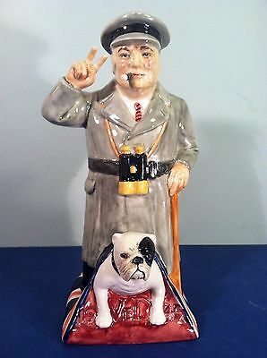 Kevin Francis Ceramics Standing Churchill Toby, Handmade & Painted, Le 216 / 750