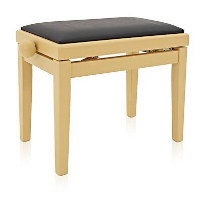 Adjustable Piano Stool by Gear4music Light Cherry