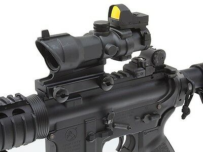 ACOG Style Airsoft 4X32 Scope + Red Dot Reflex Sight fits 20mm Rifle rail