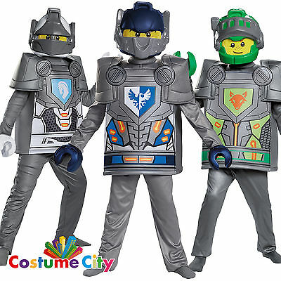 Childs Boys Official Deluxe Lego Nexo Knights Fancy Dress Party Costume
