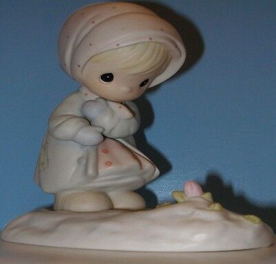 Precious Moments February Monthly Figurine. #109991. Retired. 1987.NO BOX