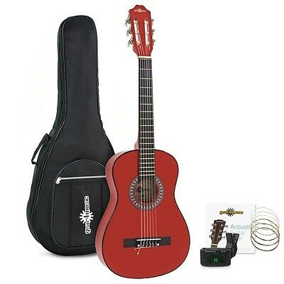 Junior 1/2 Classical Guitar Pack Red by Gear4music