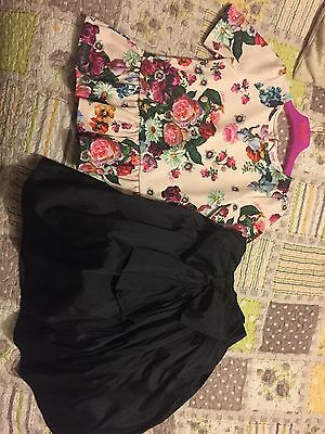 Ted Baker Girls Top And Next Puffball Skirt Age 8