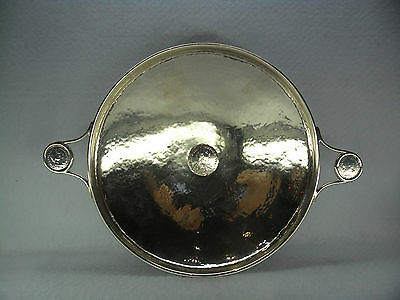 A E Jones Solid Silver Arts & Crafts Two Handled Dish, Birmingham 1915