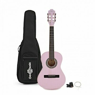 Junior 1/2 Classical Guitar Pack Pink by Gear4music